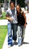 Jennifer Love Hewitt and Ross McCall walk hand in hand around their Hollywood neighborhood, May 29