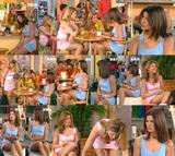 Laly, Laure & Linda (french actress) @ LMDLA : pink and blue (legs) - video
