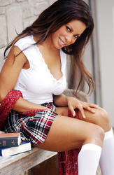 Lizette Bordeaux the topless ebony schoolgirl - picture 1